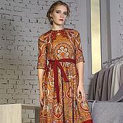 Одежда ручной работы. Ярмарка Мастеров - ручная работа Платье из павлопосадского платка. Handmade.