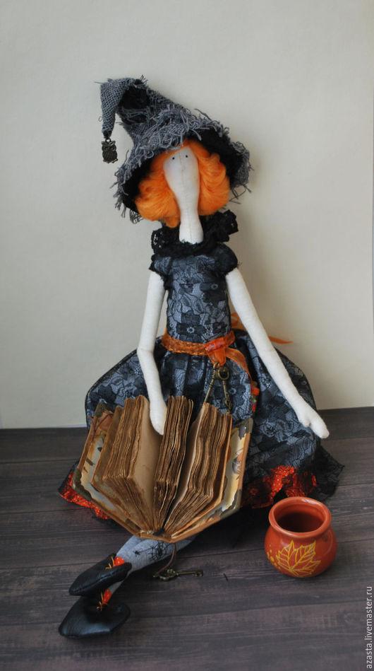Куклы Тильды ручной работы. Ярмарка Мастеров - ручная работа. Купить Кукла Ведьмочка. В стиле Тильда. Handmade. Оранжевый