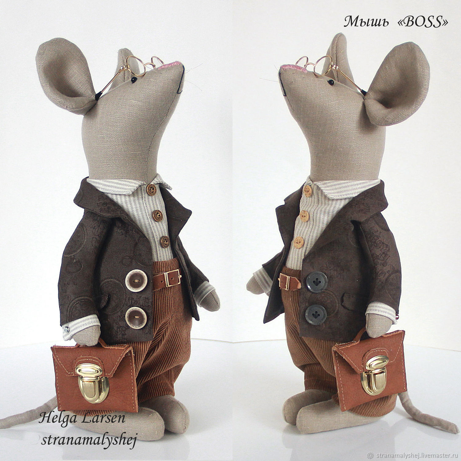 """Mouse """"Boss"""", rag toys, gift to the boss, Tilda Toys, St. Petersburg,  Фото №1"""