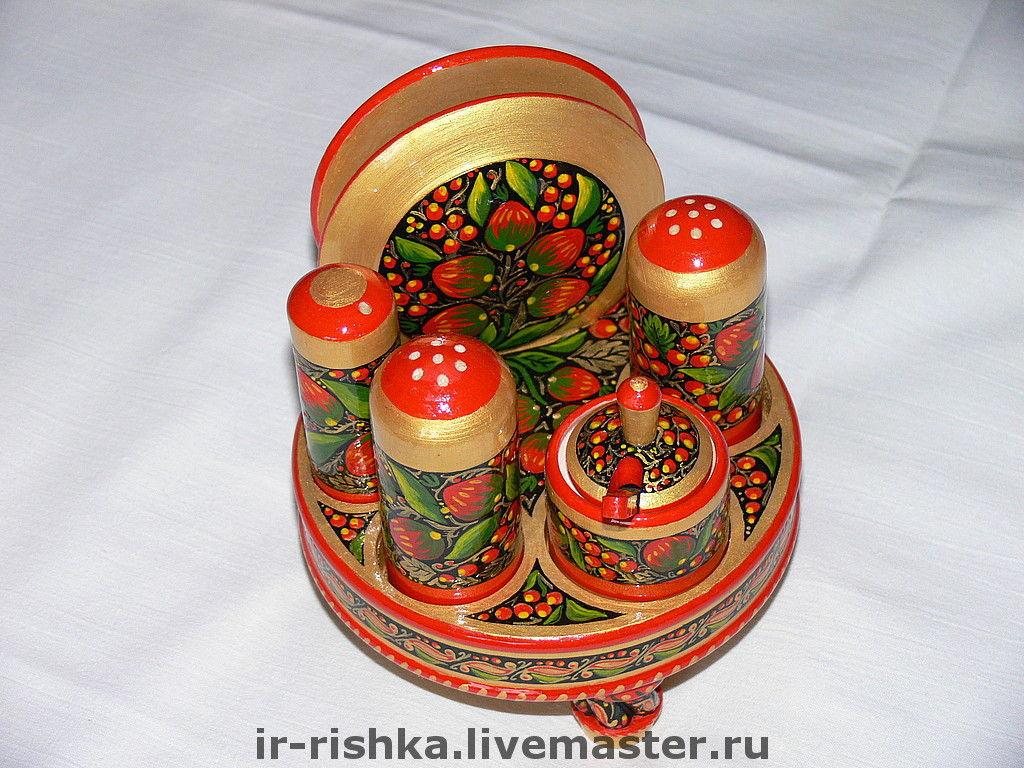 "Набор для специй ""Хохлома"", Посуда, Москва, Фото №1"