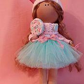 Куклы и игрушки ручной работы. Ярмарка Мастеров - ручная работа Интерьерная текстильная кукла большеножка Принцесса. Handmade.