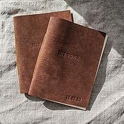 Книги ручной работы. Ярмарка Мастеров - ручная работа Кожаные книжечки для клятв с вашей датой. Handmade.