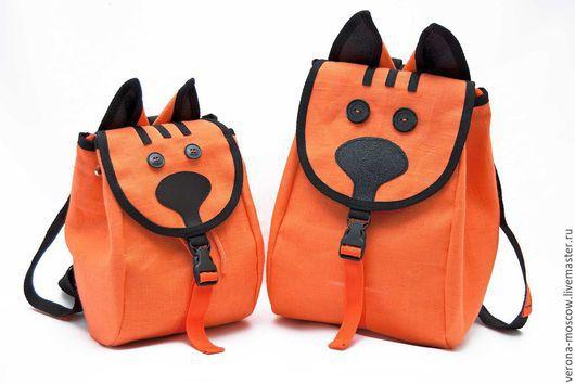Рюкзаки ручной работы. Ярмарка Мастеров - ручная работа. Купить Рюкзачок детский Рыжик. Handmade. Рыжий, оранжевый, оригинальный рюкзак