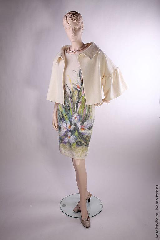 Платья ручной работы. Ярмарка Мастеров - ручная работа. Купить Комплект Платье и Жакет Белые цветы. Handmade. Платье