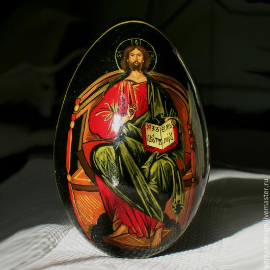 """Яйца ручной работы. Ярмарка Мастеров - ручная работа. Купить расписное яйцо """"Спаситель"""". Handmade. Деревянное яйцо, расписное яйцо"""