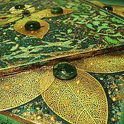 """Для дома и интерьера ручной работы. Ярмарка Мастеров - ручная работа Часы настенные """"Мятный чай"""". Handmade."""