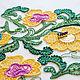 Люневильская вышивка желтые цветы. Аппликации. Le.Di.Couture. Ярмарка Мастеров.  Фото №4