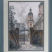 Картины и панно handmade. Livemaster - original item Cross stitch City gate. Handmade.
