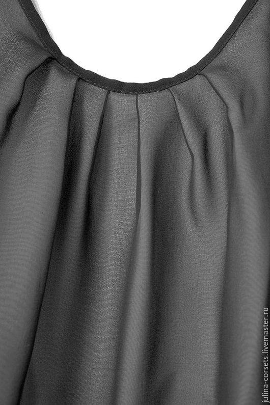 """Блузки ручной работы. Ярмарка Мастеров - ручная работа. Купить Блузка шелковая двухслойная """"Игра теней"""". Handmade. Чёрно-белый"""