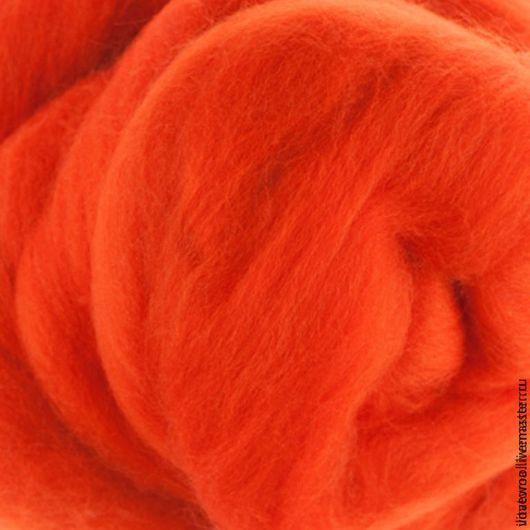 Валяние ручной работы. Ярмарка Мастеров - ручная работа. Купить Шерсть для валяния Австралийский меринос Апельсин. Handmade. Рыжий