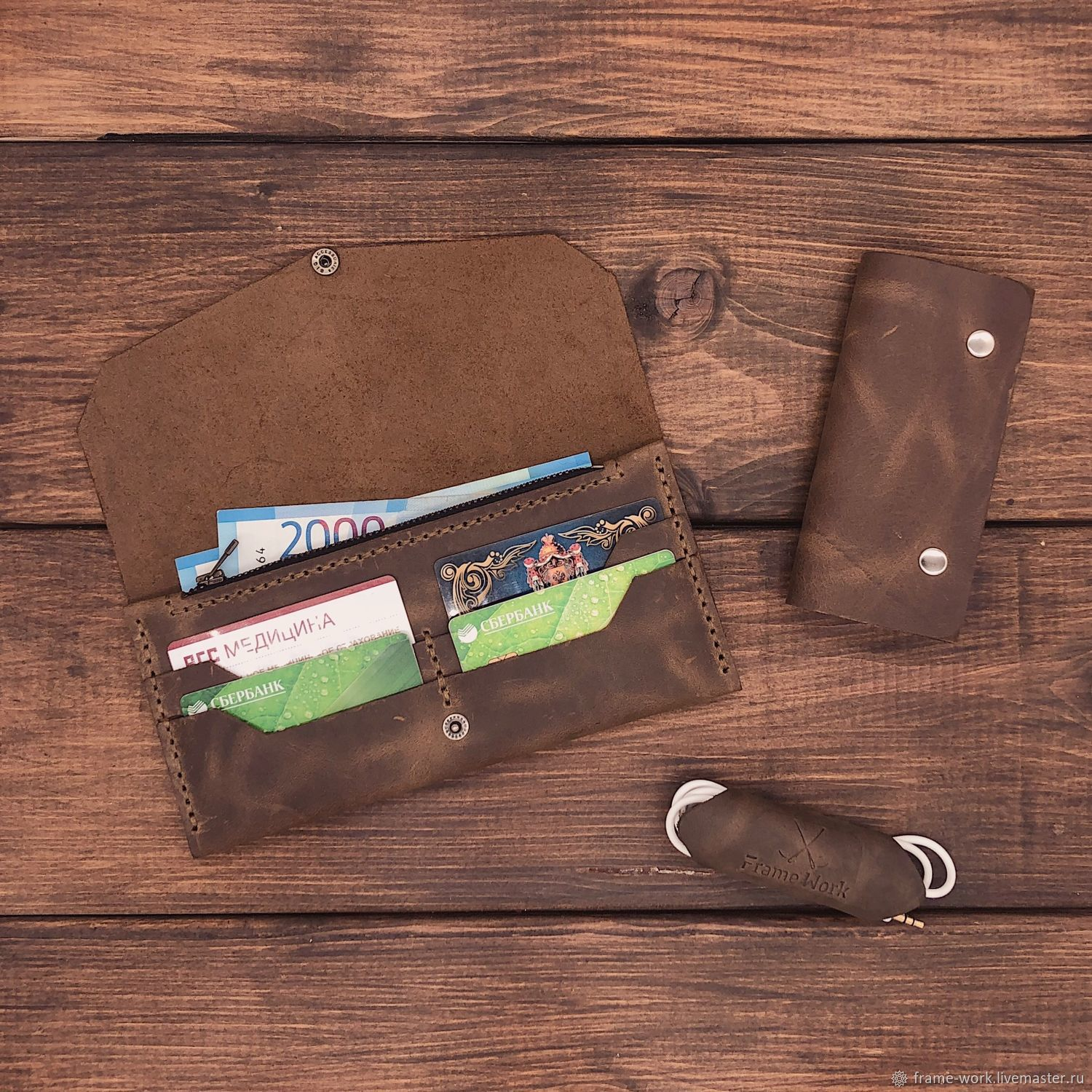 A set of accessories made of genuine leather Urban with a wallet Vienna, Wallets, Moscow,  Фото №1