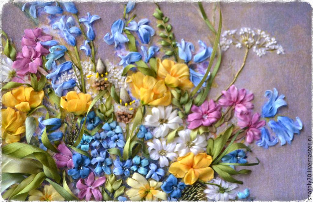 Вышивка лентами картинки цветы 62