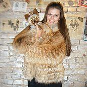 Одежда handmade. Livemaster - original item Fox fur coat. cover ( alter ). Handmade.