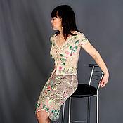 Одежда ручной работы. Ярмарка Мастеров - ручная работа Вязаный костюм Монвизо ирланд. кружево. Handmade.