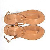 """Обувь ручной работы. Ярмарка Мастеров - ручная работа Кожаные сандалии """"Т"""" без пяточки. Handmade."""