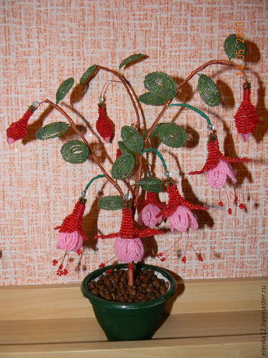 Цветы ручной работы. Ярмарка Мастеров - ручная работа. Купить Цветы из бисера. Фуксия. Handmade. Фуксия, цветы из бисера