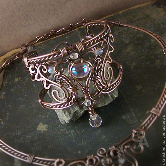 Bracelets handmade. Livemaster - handmade. Buy Bracelet 'Magic dream'.White, victorian style, wire work