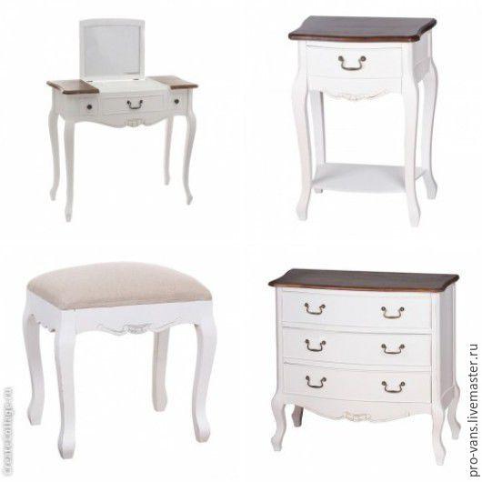 Мебель ручной работы. Ярмарка Мастеров - ручная работа. Купить Консоль, комод, туалетный столик, пуфик. Handmade. Белый, консоль