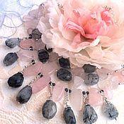"""Украшения handmade. Livemaster - original item Колье """"Пепел розы"""" (розовый кварц, рутиловый кварц). Handmade."""