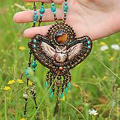 Украшения ручной работы. Ярмарка Мастеров - ручная работа Лесная сова длинный кулон. Handmade.