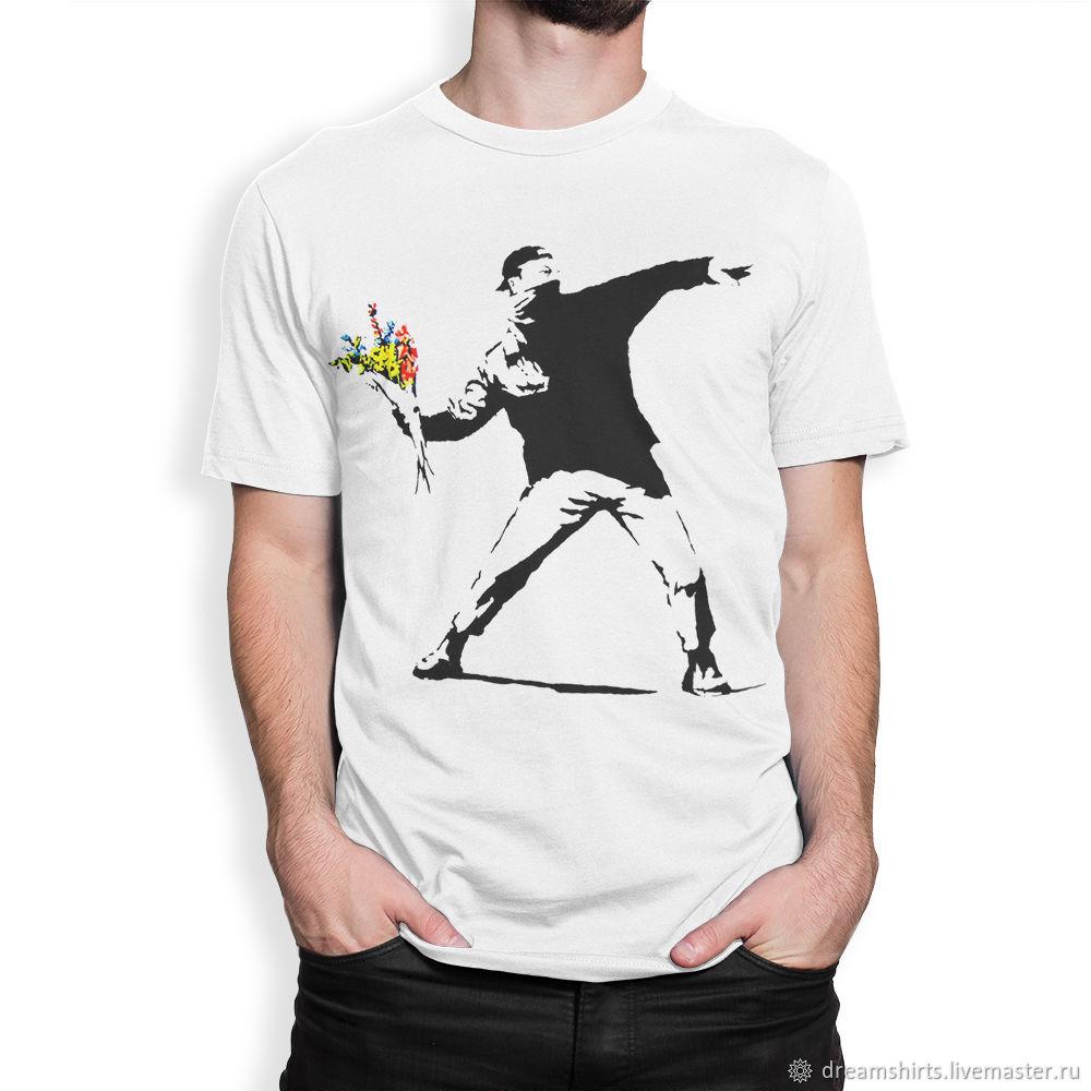 """Футболка хлопковая """"Бэнкси - Flower Thrower"""", T-shirts, Moscow,  Фото №1"""