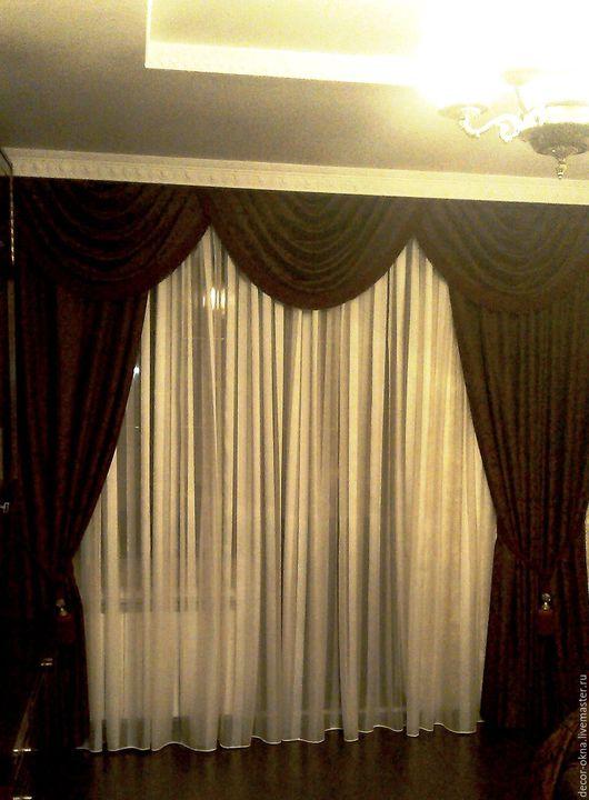 Текстиль, ковры ручной работы. Ярмарка Мастеров - ручная работа. Купить шторы для гостиной. Handmade. Шторы, дизайн, занавески