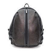 Сумки и аксессуары handmade. Livemaster - original item Backpack female leather black Irene. Handmade.