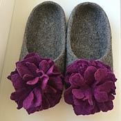 Обувь ручной работы. Ярмарка Мастеров - ручная работа Валяные тапочки Пионы. Handmade.