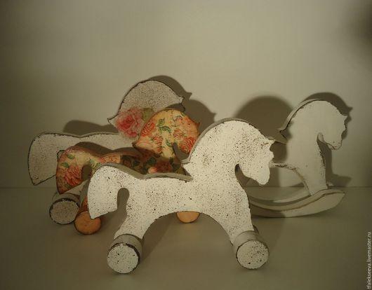 Комплекты аксессуаров ручной работы. Ярмарка Мастеров - ручная работа. Купить Лошадки разные. Handmade. Лошадка, качалка, дерево