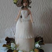 """Сувениры и подарки ручной работы. Ярмарка Мастеров - ручная работа Кукла с конфетами """"Девушка в шляпке"""". Handmade."""