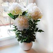 Цветы и флористика ручной работы. Ярмарка Мастеров - ручная работа Белые пионы. Handmade.