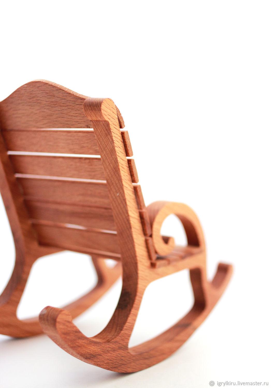 кресло качалка для кукол и игрушек деревянная игрушка бук купить