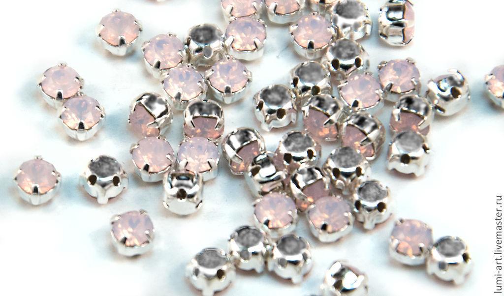 Chaton Montees 4mm Rose Water Opal в оправе Шатоны Сваровски 15 шт, Кристаллы, Краснодар,  Фото №1