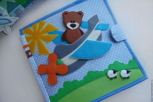 """Развивающие игрушки ручной работы. Ярмарка Мастеров - ручная работа. Купить Развивающая книжка. """"Детство начинается с Барто"""". Handmade. Голубой"""