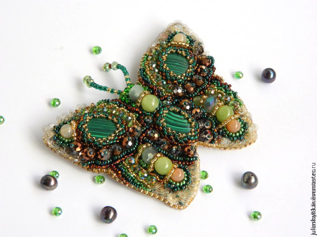 Butterfly brooch 'rendezvous', Brooches, Kiev,  Фото №1