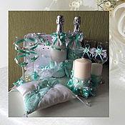 Свадебный салон ручной работы. Ярмарка Мастеров - ручная работа Свадебный набор Мятный. Handmade.