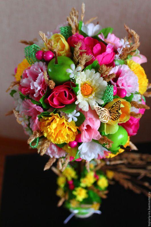 Дизайн интерьеров ручной работы. Ярмарка Мастеров - ручная работа. Купить Топиарий. Handmade. Комбинированный, птичка, розы, сухоцветы, птичка