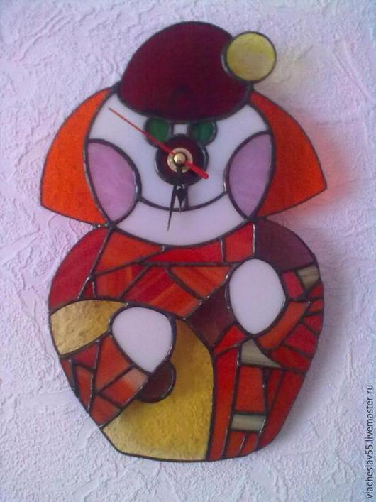 Детская ручной работы. Ярмарка Мастеров - ручная работа. Купить Часы настенные. Handmade. Ярко-красный, подарок на любой случай