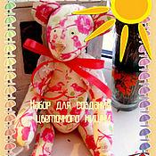 Материалы для творчества ручной работы. Ярмарка Мастеров - ручная работа Набор для создания цветочного  мишки. Handmade.