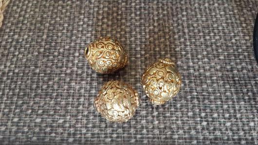 Кулоны, подвески ручной работы. Ярмарка Мастеров - ручная работа. Купить Тибетские золотые бусины. Handmade. Золотой, латунь с покрытием