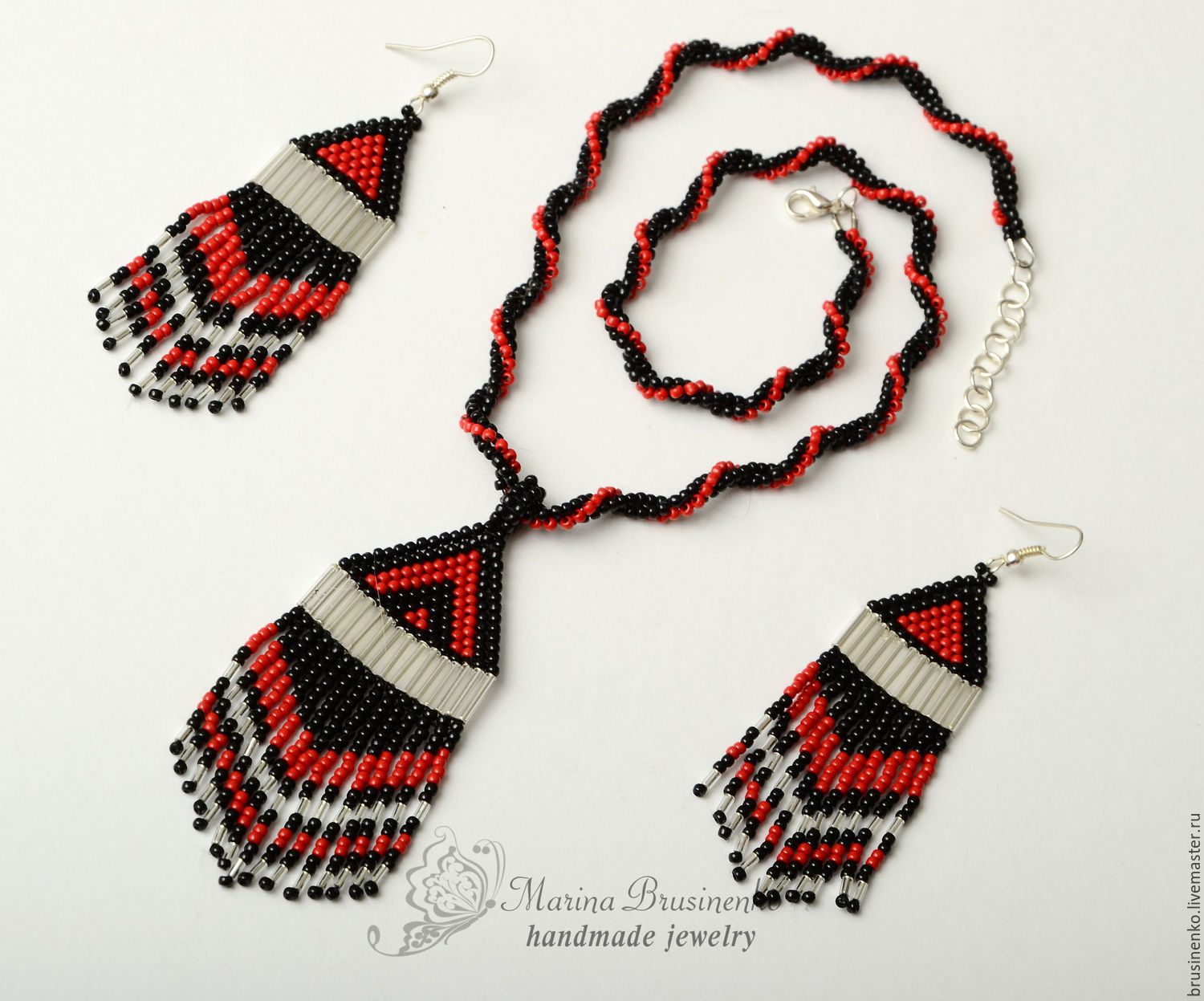 Pendant and earrings with fringe 3 options, Jewelry Sets, Novosibirsk,  Фото №1