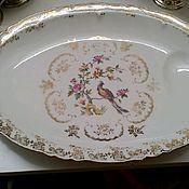 Винтажные тарелки ручной работы. Ярмарка Мастеров - ручная работа Фарфоровый поднос, блюдо. Handmade.