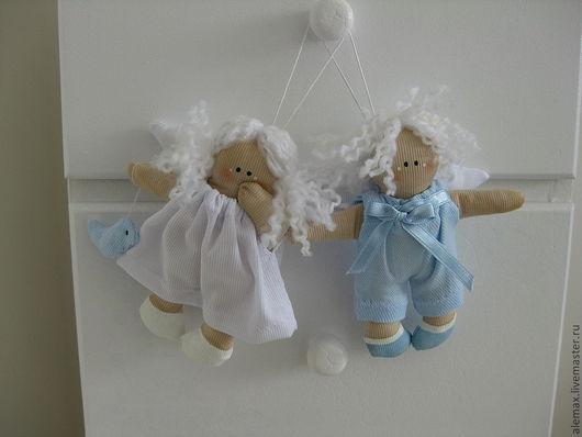 Человечки ручной работы. Ярмарка Мастеров - ручная работа. Купить Ангелочки. Handmade. Ангелочки, текстильная игрушка, игрушка в подарок
