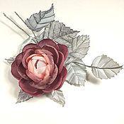 Украшения handmade. Livemaster - original item Music Misty Morning. brooch - handmade flower fabric.. Handmade.
