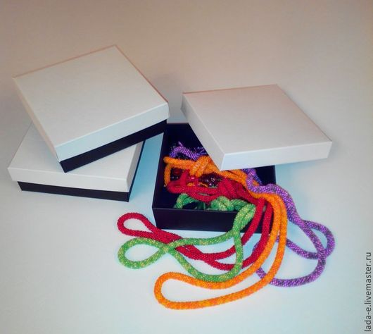 Упаковка ручной работы. Ярмарка Мастеров - ручная работа. Купить Коробка бело-черная. Handmade. Упаковка, упаковка для украшений, черный