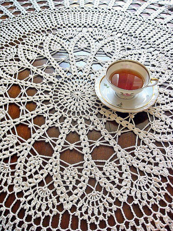 Скатерть круглая вязаная скатерть для круглого стола скатерть ручной работы для интерьера в стиле кантри прованс купить красивую скатерть