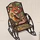 """Кукольный дом ручной работы. Кресло-качалка """"Птички"""". Irene Gromi (Teddy Art Boutique). Интернет-магазин Ярмарка Мастеров."""