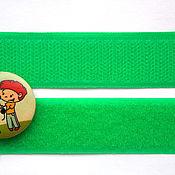 Ленты ручной работы. Ярмарка Мастеров - ручная работа Лента контактная велькро (липучка) зелёная. Handmade.