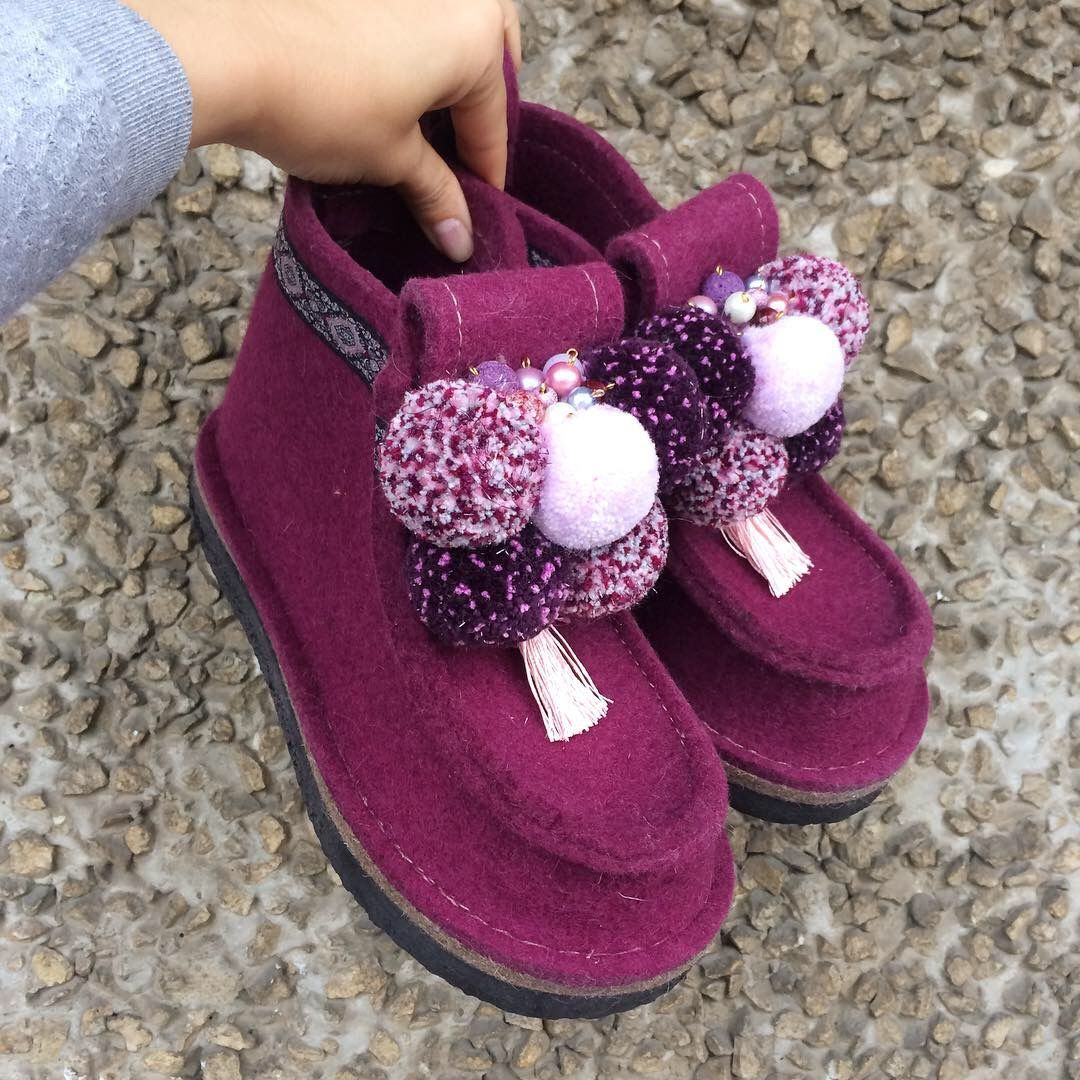 Boots for the street 'Cranberry in sugar', Valeshis, Moscow,  Фото №1