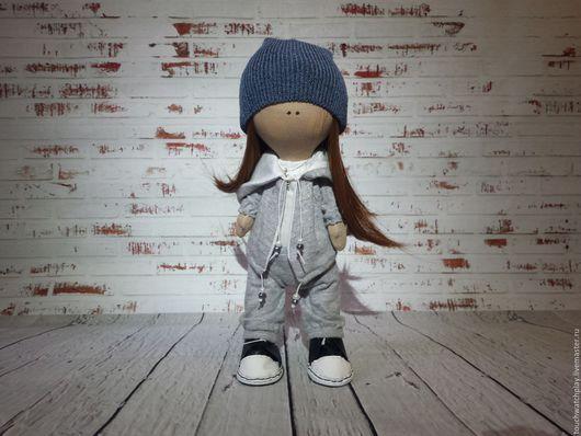Человечки ручной работы. Ярмарка Мастеров - ручная работа. Купить Кукла любительница танцев. Handmade. Серый, трикотаж